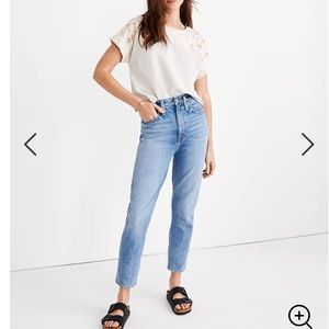 Madewell The Mom Jean In Melva Wash 35 W